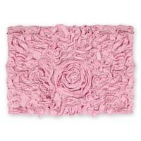 """Bellflower 17"""" x 24"""" Bath Rug in Pink"""