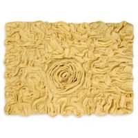 "Bellflower 17"" x 24"" Bath Rug in Yellow"