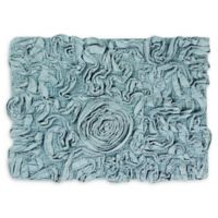 "Bellflower 17"" x 24"" Bath Rug in Blue"