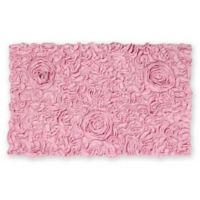 """Bellflower 21"""" x 34"""" Bath Rug in Pink"""