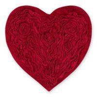 "Bellflower Heart 25"" x 25"" Bath Rug in Red"
