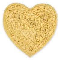 "Bellflower Heart 25"" x 25"" Bath Rug in Yellow"