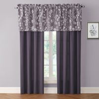 Bethany 84-Inch Rod Pocket Window Curtain Panel Pair in Raisin