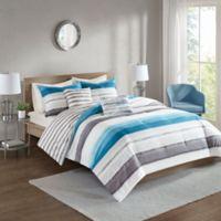 510 Designs Wallace 5-Piece Reversible Full/Queen Comforter Set in Indigo