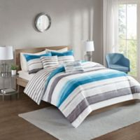 510 Design Wallace Reversible Full/Queen Duvet Cover Set in Indigo