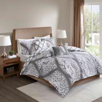 510 Design Jaclin Reversible 5-Piece Full/Queen Comforter Set in Grey