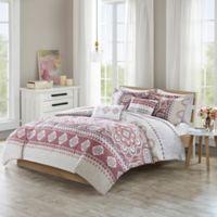 510 Designs Neda Reversible Full/Queen King Comforter Set in Rose