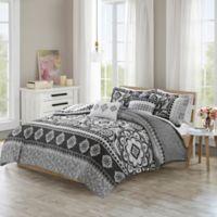 510 Designs Neda Reversible Full/Queen King Comforter Set in Charcoal