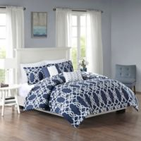 510 Designs Neptune Reversible Full/Queen Duvet Cover Set in Dark Grey