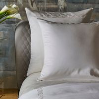 Frette At Home Boho Embroidery European Pillow Sham in Ivory