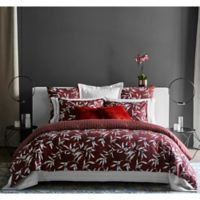 Frette At Home Chinoiserie Queen Duvet Cover in Bordeaux
