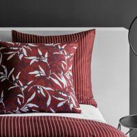 Frette At Home Chinoiserie European Pillow Sham in Bordeaux