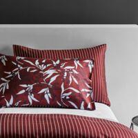 Frette At Home Chinoiserie King Pillow Sham in Bordeaux