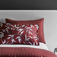Frette At Home Chinoiserie Standard Pillow Sham in Bordeaux