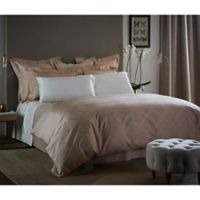 Frette At Home Boho Queen Duvet Cover in Powder Pink