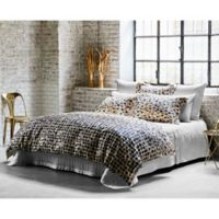 Frette At Home Mosaic Queen Duvet Cover in Ivory/Black