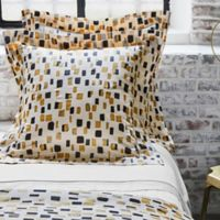 Frette At Home Mosaic European Pillow Sham in Ivory/Black