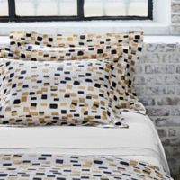 Frette At Home Mosaic King Pillow Sham in Ivory/Black
