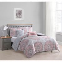 Boho Living Annabelle 5-Piece King Comforter Set in Coral