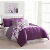Carmela Home Surrey 7-Piece Queen Comforter Set in Purple