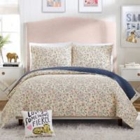 Hello Lucky Provencal Poppies Reversible Full/Queen Quilt Set in Pink