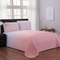 Kenzie Reversible King Quilt Set in Blush