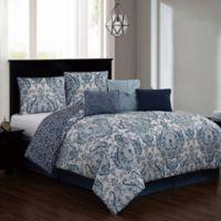 Kadia 7-Piece King Comforter Set in Blue
