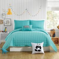 Urban Playground Denita Full/Queen Quilt in Aqua