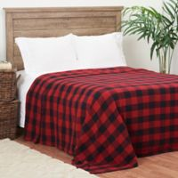 C&F Home Franklin Checker Twin Blanket in Red/Black
