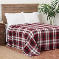 C&F Home Fireside Plaid Twin Blanket in Red/Black