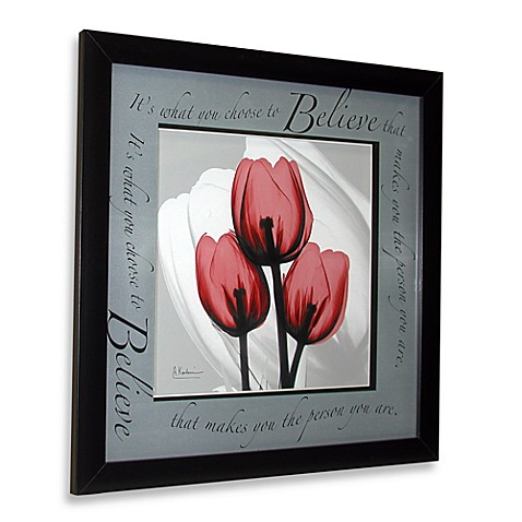 Inspiration Floral X Ray Believe Wall Art Bed Bath Beyond