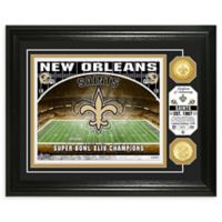 NFL New Orleans Saints Stadium Silver Plated Coins Photo Mint