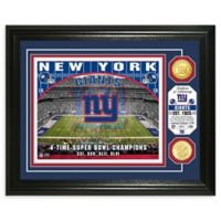 NFL New York Giants Stadium Silver Plated Coins Photo Mint