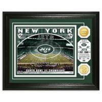 NFL New York Jets Stadium Silver Plated Coins Photo Mint