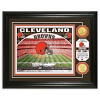NFL Cleveland Browns Stadium Silver Plated Coins Photo Mint