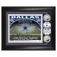 NFL Dallas Cowboys Stadium Silver Plated Coins Photo Mint