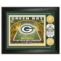 NFL Green Bay Packers Stadium Silver Plated Coins Photo Mint