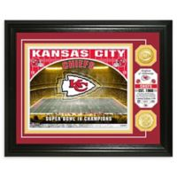 NFL Kansas City Chiefs Stadium Silver Plated Coins Photo Mint