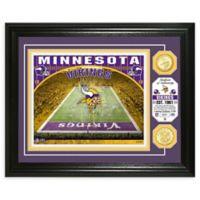 NFL Minnesota Vikings Stadium Silver Plated Coins Photo Mint