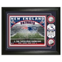 NFL New England Patriots Stadium Silver Plated Coins Photo Mint