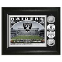 NFL Oakland Raiders Stadium Silver Plated Coins Photo Mint