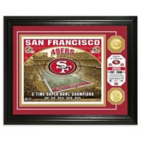 NFL San Francisco 49ers Stadium Silver Plated Coins Photo Mint
