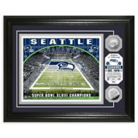 NFL Seattle Seahawks Stadium Silver Plated Coins Photo Mint