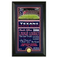NFL Houston Texans House Rules Bronze Coin Photo Mint