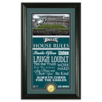 NFL Philadelphia Eagles House Rules Bronze Coin Photo Mint