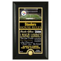NFL Pittsburgh Steelers House Rules Bronze Coin Photo Mint