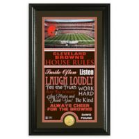 NFL Cleveland Browns House Rules Bronze Coin Photo Mint
