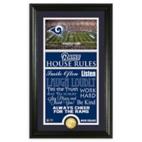 NFL Los Angeles Rams House Rules Bronze Coin Photo Mint