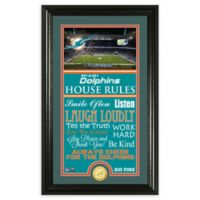 NFL Miami Dolphins House Rules Bronze Coin Photo Mint