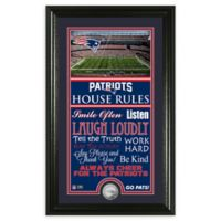 NFL New England Patriots House Rules Bronze Coin Photo Mint